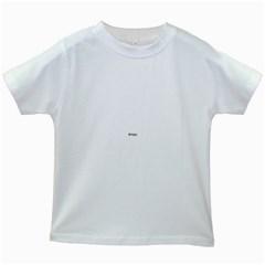 Usa Hearts Flag Kids White T Shirts