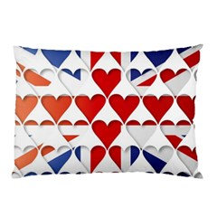 Uk Hearts Flag Pillow Cases