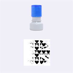Uk Hearts Flag Rubber Round Stamps (small)