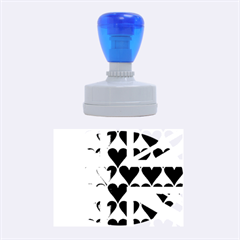 Uk Hearts Flag Rubber Oval Stamps