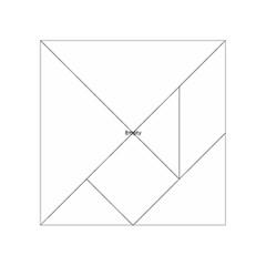 Uk Hearts Flag Acrylic Tangram Puzzle (4  x 4 )