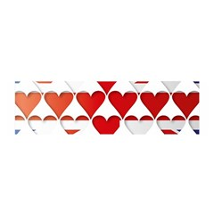 Uk Hearts Flag Satin Scarf (Oblong)