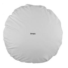 Black and White Wavy Mosaic Large 18  Premium Flano Round Cushions