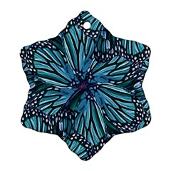 Modern Floral Collage Pattern Snowflake Ornament (2-Side)