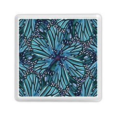 Modern Floral Collage Pattern Memory Card Reader (Square)