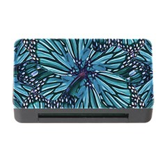 Modern Floral Collage Pattern Memory Card Reader with CF