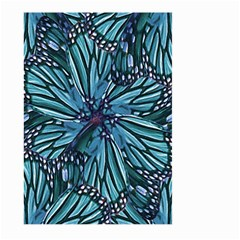 Modern Floral Collage Pattern Large Garden Flag (Two Sides)