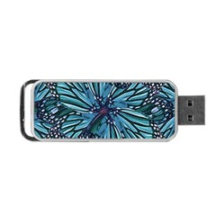 Modern Floral Collage Pattern Portable USB Flash (Two Sides)