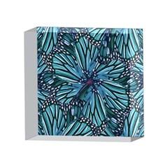 Modern Floral Collage Pattern 4 x 4  Acrylic Photo Blocks