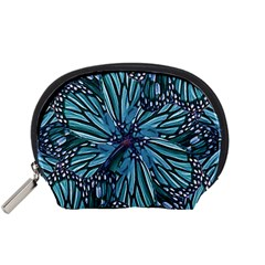 Modern Floral Collage Pattern Accessory Pouches (small)