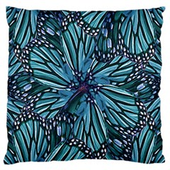 Modern Floral Collage Pattern Large Flano Cushion Cases (One Side)