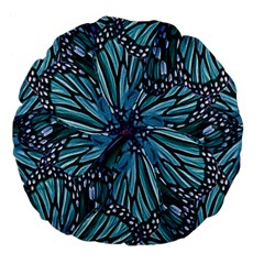 Modern Floral Collage Pattern Large 18  Premium Flano Round Cushions