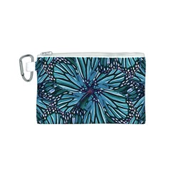 Modern Floral Collage Pattern Canvas Cosmetic Bag (S)