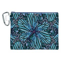 Modern Floral Collage Pattern Canvas Cosmetic Bag (XXL)