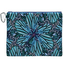 Modern Floral Collage Pattern Canvas Cosmetic Bag (XXXL)