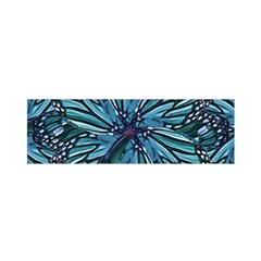 Modern Floral Collage Pattern Satin Scarf (oblong)