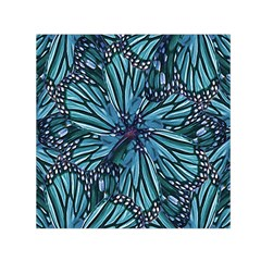 Modern Floral Collage Pattern Small Satin Scarf (Square)