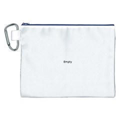 UK City Names Flag Canvas Cosmetic Bag (XXL)