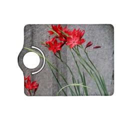 Red Flowers Kindle Fire Hd (2013) Flip 360 Case