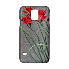 Red Flowers Samsung Galaxy S5 Hardshell Case