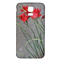 Red Flowers Samsung Galaxy S5 Back Case (white)