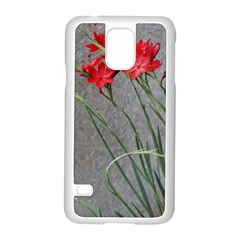 Red Flowers Samsung Galaxy S5 Case (white)
