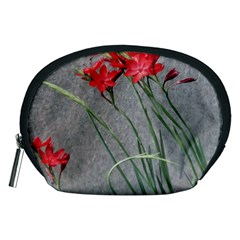 Red Flowers Accessory Pouches (medium)