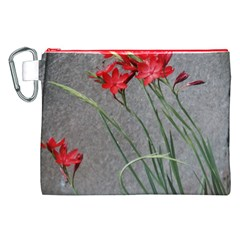 Red Flowers Canvas Cosmetic Bag (XXL)