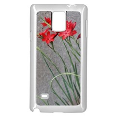 Red Flowers Samsung Galaxy Note 4 Case (White)