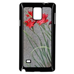 Red Flowers Samsung Galaxy Note 4 Case (Black)