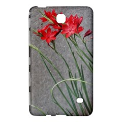 Red Flowers Samsung Galaxy Tab 4 (8 ) Hardshell Case