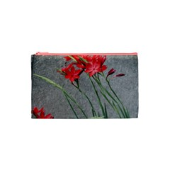 Red Flowers Cosmetic Bag (XS)