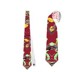 Oriental Floral Print Neckties (one Side)