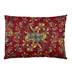 Oriental Floral Print Pillow Cases