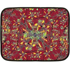 Oriental Floral Print Fleece Blanket (mini)