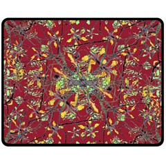 Oriental Floral Print Fleece Blanket (Medium)