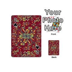 Oriental Floral Print Playing Cards 54 (mini)