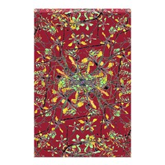 Oriental Floral Print Shower Curtain 48  x 72  (Small)