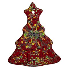 Oriental Floral Print Christmas Tree Ornament (2 Sides)