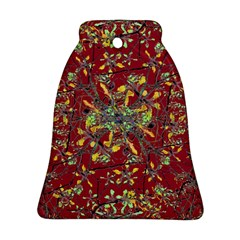 Oriental Floral Print Bell Ornament (2 Sides)