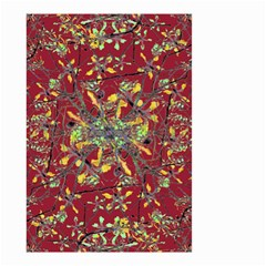 Oriental Floral Print Small Garden Flag (Two Sides)