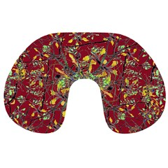 Oriental Floral Print Travel Neck Pillows
