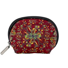 Oriental Floral Print Accessory Pouches (small)