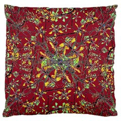 Oriental Floral Print Large Flano Cushion Cases (One Side)