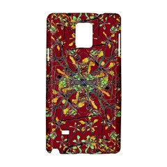Oriental Floral Print Samsung Galaxy Note 4 Hardshell Case