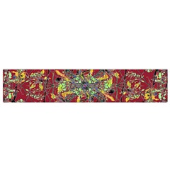 Oriental Floral Print Flano Scarf (Small)