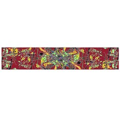Oriental Floral Print Flano Scarf (large)