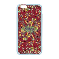 Oriental Floral Print Apple Seamless iPhone 6 Case (Color)