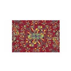 Oriental Floral Print Satin Wrap