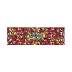 Oriental Floral Print Satin Scarf (Oblong)